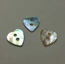 """500 PCS LOVELY HEART REAL SHELL BUTTON - SIZE: 9/16"""""""