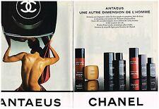 PUBLICITE ADVERTISING   1981   CHANEL   parfums ANTEUS ( 2 pages)