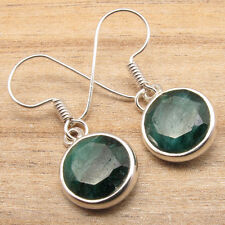 Pair Jewelry Art Fashion 2016 Simulated Emerald Gemstone Silver Plated Earrings