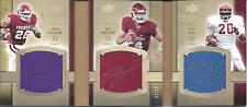 Sam Bradford Adrian Peterson Billy Sims UD Exquisite Auto Signed Tri Card 02/10