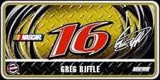 Greg Biffle 2010 #16 Roush Fenway Metal License Plate