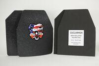 Level III 10x12 PAIR CQB CATI AR500 Body Armor Base Coating Steel Plates
