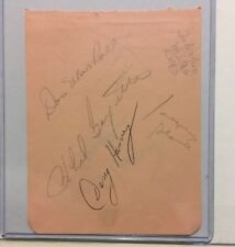 Jacques PLANTE & Doug HARVEY + 5 others JSA COA Signed Canadiens & Wings GREATS