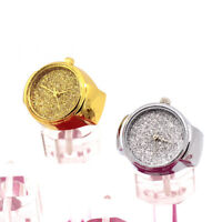 Lovers Womens Mens Quartz Finger Ring Couple Watch Stainless Steel Wrist Watch