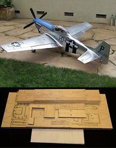 "98"" wingspan P-51D Mustang R/c Plane short kit/semi kit and plans"