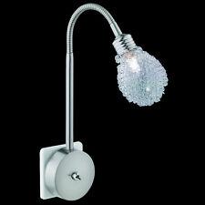 Flex Steckdosenleuchte Nickel matt Aluminiumgeflecht Lampe Steckdose leuchte