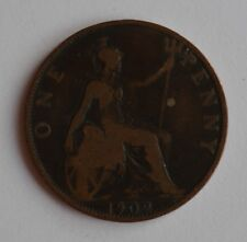 More details for 1902 edward vii one penny genuine low tide coin