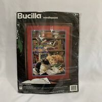 New Vintage Bucilla Friends of the Library Needlepoint Kit Unopened 12x16 1995