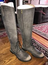 LUCKY BRAND Knee High Equestrian Lace/Zip Up Riding Boots Size 8 NEW (KM)