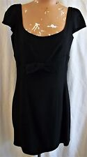 EUC! ARMANI COLLEZIONI SIZE 8 LITTLE BLACK DRESS W/ SASSY BOW AT WAIST, FITTED