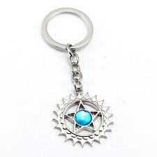 Anime Black Butler Keychain Pentagram Logo Pendant Car Key Ring Fan Student Gift
