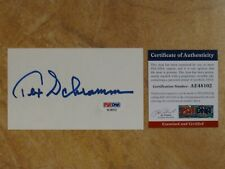 TEX SCHRAMM PRESIDENT GM DALLAS COWBOYS SIGNED AUTOGRAPHED INDEX CARD RARE! PSA