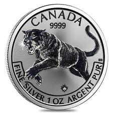 2016 1 oz Canadian Silver Cougar Predator Series $5 Coin .9999 Fine Silver
