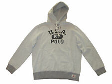 Polo Ralph Lauren Vintage Gray USA 67 Gym Hooded Jacket Hoodie Coat XL