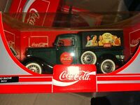 1996 Solido Coca Cola Green Ford Bache 1/18 Scale Ref. 9513 NRFB