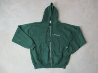 VINTAGE Champion Hoodie Sweater Adult Medium Green White Spell Out Mens 90s A3*