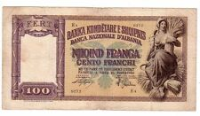 Albania occupazione Italia 100 franga 1945 BB VG pick 8 lotto 599