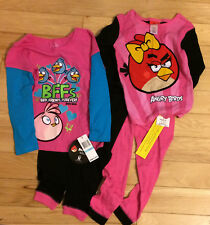 Angry Bird PJs-2 Bottoms Size 6+ BFF Angry Birds Lon-Sleeved T-Shirt SX 5