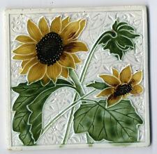 ART NOUVEAU Jugendstilfliese Fliese Tile gesetzl. geschützt Sonnenblume Blume .
