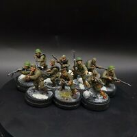 Well Painted 28mm Bolt Action Soviet siberian veteran squad ×10 #1 Ww2