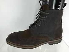 Hugo Boss Mens Brown Leather Ankle Boots 6.5