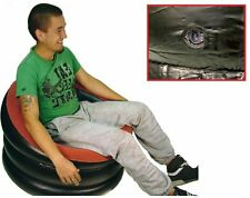 NUOVO singolo gonfiabile floccato SEDILE sedia divano campeggio Lettino Rilassanti Divano