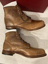NEW Wolverine 1000 mile boots Men's Sz 12D Crazy Cow Leather Cognac