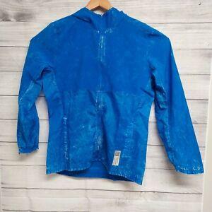 Adidas Mens Own The Run Glory Blue Long Sleeve Windbreaker Jacket Size Medium