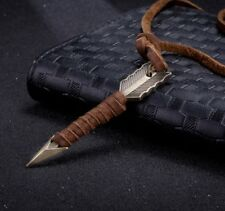 Halskette Kette aus echtem Leder Surfer Ringe Anhänger Pfeil Bogen Mittelalter