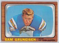1966 Topps SAM GRUNEISEN - Football Card # 124 - SAN DIEGO CHARGERS