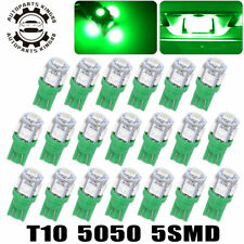 20X Green T10 5050 5SMD LED Dome Map Interior Instrument Panel Dash Light Bulbs
