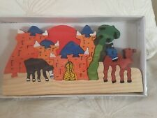Egyptian Theme Pre-School Young Children Wooden Toy Game Puzzle 🧩Box G