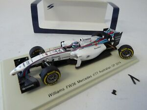 Williams FW36 Mercedes #77 Australian GP 2014 - 1:43 Spark Voiture Car S3080