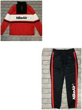 NIKE AIR BOYS POLY NSW RED BLACK WHITE TRACK SUIT TOP TRACK PANTS RRP £65