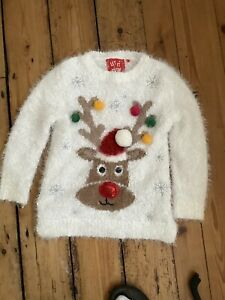 Excellent Condition Christmas Jumper Girls Aged 5 Years.Tu