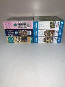 Lot of 6 Charles Wysocki 1000 piece puzzles Buffalo Games
