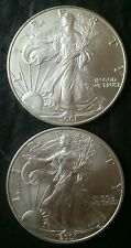 Two 2001 $1 American Silver Eagle Dollars