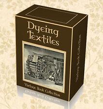 Dyeing Textiles Fabric 220 Vintage Books on DVD - Batik Dye Colour Cotton Tie H7