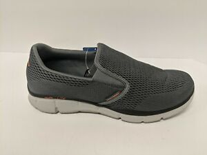 Skechers Equalizer Double Play, Charcoal/Orange, Men's 13 Wide