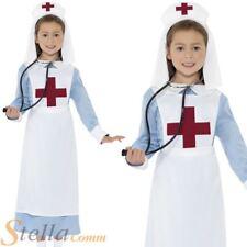 Girls WW1 Nurse Costume Uniform Wartime War Fancy Dress Book Week Outfit