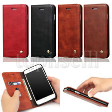 Classic Flip Magnetic PU Leather Book Wallet Card Stand Case Lot Cover Bumper
