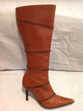 Gipsy Brown Knee High Leather Boots Size 38-39