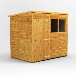 7x5 Power Pent Garden Shed | Power Sheds | Wood Shiplap | Windows and Windowless