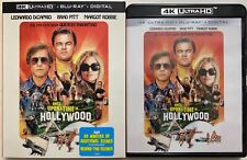 ONCE UPON A TIME IN HOLLYWOOD 4K ULTRA HD BLU RAY 2 DISC SET + SLIPCOVER SLEEVE
