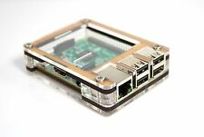 Zebra Case Raspberry Pi3, Pi 3, 2, B+ & 2B (Bamboo) with Heatsinks ~ C4Labs