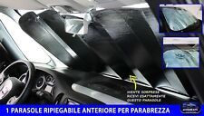 PARASOLE PER AUTO UNIVERSALE CON VENTOSE ANTERIORE RIPIEGABILE DA SOLE CRUSCOTTO