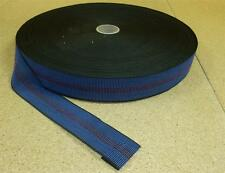 """Blue Elasticated 2"""" Upholstery Webbing for Chairs Seats & Furniture 2 Metres"""