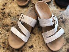 Vionic Women's Rio White Snake Print Platform Slide Sandals Size 7