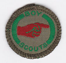 1940's UK / BRITISH SCOUTS - BOY SCOUT GUIDE Proficiency Badge (GREEN) ~  SCARE