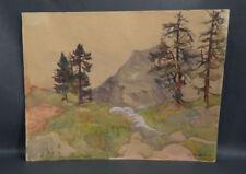 Malerei über Österreich mit Landschafts-Thema